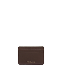 Jet Set Pebbled-Leather Card Case - BROWN - 39S5SMND1T