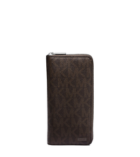 Jet Set Logo Passport Wallet - BROWN - 39S5SMNV1B