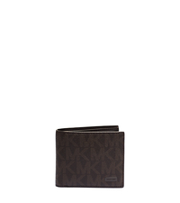Jet Set Logo Billfold with Passcase Wallet - BROWN - 39S5SMNF2B