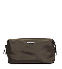 Windsor Nylon Toiletry Kit - BLACK/BROWN - 39S5SWDV1C