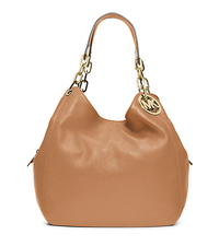 Fulton Large Leather Shoulder Bag - PEANUT - 30H3GFTE3L