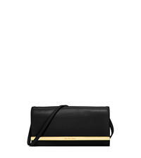 Lana Leather Clutch - BLACK - 30S5GKYC1L