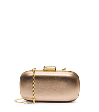 Elsie Leather Dome Clutch - PALE GOLD - 30S5MBXC5M