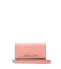 Saffiano Leather Phone Wristlet for iPhone 5 - PALE PINK - 32F4GELL2L