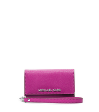 Saffiano Leather Phone Wristlet for iPhone 5 - FUCHSIA - 32F4SELL2L
