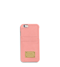 Saffiano Leather Pocket Case For iPhone 6 - PALE PINK - 32H4GELL3L