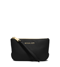 Rhea Large Leather Wristlet - BLACK - 32S5GEZM2L