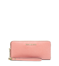 Jet Set Travel Leather Continental Wallet - PALE PINK - 32S5GTVE9L