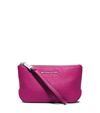 Rhea Large Pebbled-Leather Zip Pouch - ONE COLOR - 32S5SEZM2L