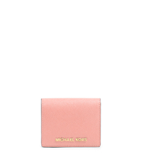 Jet Set Travel Saffiano Leather Card Holder - PALE PINK - 32T4GTVF2L