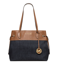 Marina Large Denim Tote - Dark Denim - 30H5GMAT8C