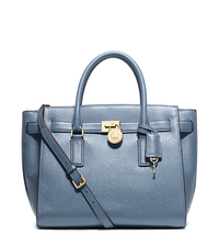 Hamilton Traveler Large Leather Satchel - CORNFLOWER - 30H5GHXS3L