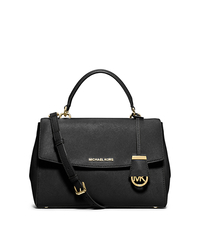 Ava Medium Saffiano Leather Satchel - BLACK - 30T5GAVS3L