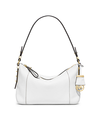 Bowery Medium Leather Shoulder Bag - OPTIC WHITE - 30T5GBOL2L