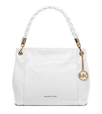 Naomi Leather Top-Handle Bag - OPTIC WHITE - 30T5GBYL3L