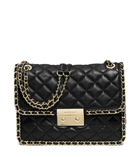 Carine Large Quilted-Leather Shoulder Bag - BLACK - 30T5GCCL3L