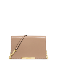 Lana Leather Clutch - DARK KHAKI - 32S5GKYW2L