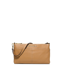 Bedford Large Leather Wristlet - PEANUT - 32T5GBFW3L