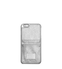 Metallic Leather Pocket Smartphone Case - SILVER - 32T5MELL8M
