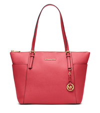 Jet Set Large Top-Zip Saffiano Leather Tote - WATERMELON - 30F4GTTT9L