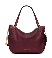 Chandler Large Leather Tote - MERLOT - 30F5GCUE3L
