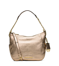 Chandler Medium Metallic Leather Shoulder Bag - PALE GOLD - 30F5MCUL2M