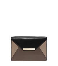 Lana Color-Block Leather Envelope Clutch - ELEPHANT/DTAUPE/BLK - 30F5SKYC2T