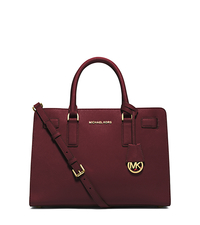 Dillon Saffiano Leather Satchel - MERLOT - 30H4GAIS3L