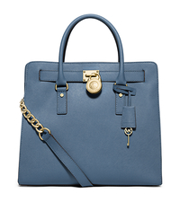 Hamilton Large Saffiano Leather Tote - CORNFLOWER - 30S2GHMT3L