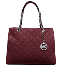 Susannah Large Quilted-Leather Tote - MERLOT - 30T5SAHT3L