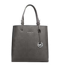 Jet Set Travel Medium Saffiano Leather Top-Zip Tote - STEEL GREY - 30T5STVT2L