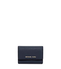 Daniela Saffiano Leather Card Holder - NAVY - 32F5GDDD5L