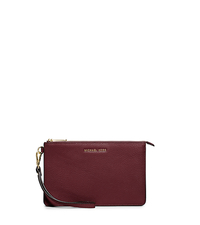 Daniela Medium Leather Wristlet - MERLOT - 32F5GDDW2T