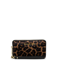 Jet Set Travel Large Leopard Calf Hair Smartphone Wristlet - CHEETAH - 32F5GTVE6H