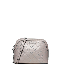 Cindy Large Studded Leather Crossbody - PEARL GREY - 32F5SM2C3L