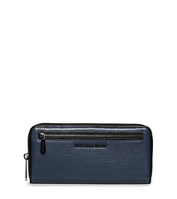 Jet Set Two-Tone Leather Continental Wallet - NAVY/BLACK - 32F5TJIZ2L