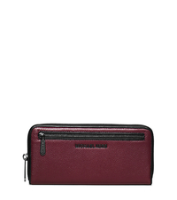Jet Set Two-Tone Leather Continental Wallet - MERLOT/BLACK - 32F5TJIZ2L
