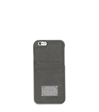 Saffiano Leather Pocket Case For iPhone 6 - STEEL GREY - 32S5SELL3L