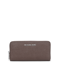 Jet Set Travel Saffiano Leather Continental Wallet - CINDER - 32T3STVE3L