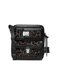 Scott Cargo Leopard Calf Hair Flight Bag - BLACK - 33F5LSCM2H
