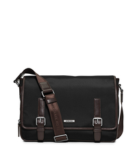 Windsor Large Nylon Messenger - BLACK/BROWN - 33F5SWDM3C