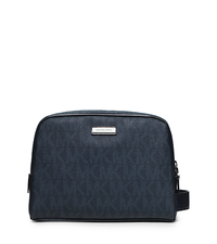 Jet Set Logo Double-Zip Travel Case - BALTIC BLUE - 39F5LTVN6B