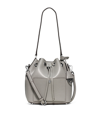Greenwich Medium Saffiano Leather Bucket Bag - PGREY/STGREY - 30F5SGRM2U