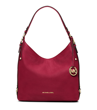 Bedford Large Leather Shoulder Bag - CHERRY - 30F5GBFL3L