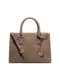 Dillon Saffiano Leather Satchel - DARK DUNE - 30H5GAIS3L
