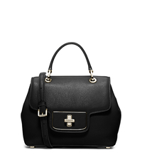 Emery Small Leather Satchel - BLACK - 30H5GEOS1L