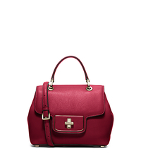 Emery Small Leather Satchel - CHERRY - 30H5GEOS1L