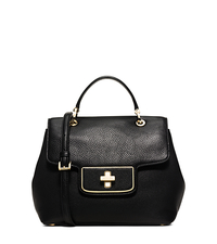 Emery Medium Pebbled-Leather Satchel - BLACK - 30H5GEOS2L