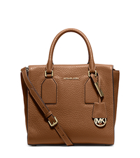 Selby Medium Leather Satchel - WALNUT - 30H5GEYS2L