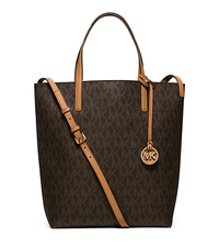 Hayley Large Convertible Tote - BROWN/PEANUT - 30H5GH3T3V
